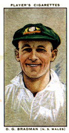 Don Bradman cigarette card